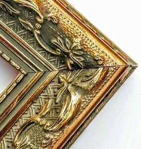 SALE-20-ft-Wide-Gold-Ornate-Picture-Frame-Moulding-Victorian-Antique-Wood
