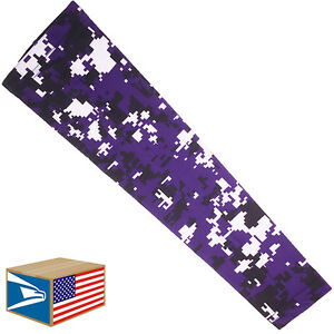 COMPRESSION ARM ELBOW SLEEVE Purple Digital Camo BASKETBALL YS/YM/YL/S/M/L<wbr/>/XL
