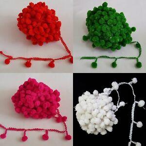 Beautiful Tassel Good size pompom /& embellishment on lace trim edge In Meters
