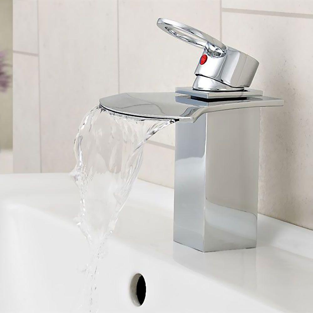Chrome cascata rubinetto vasca a cascata beccuccio monocomando