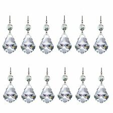 20 Clear Chandelier Glass Crystals Lamp Prisms Parts Hanging Drops ...