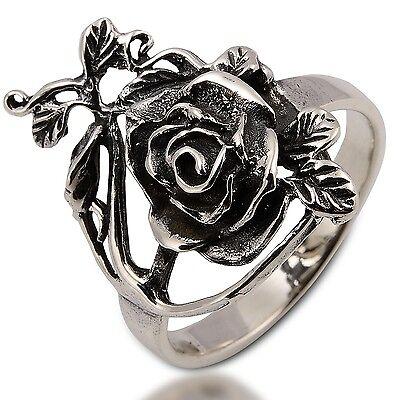 LOVELY THAI ROSE RING 925 STERLING SILVER Size.US=9,UK=R