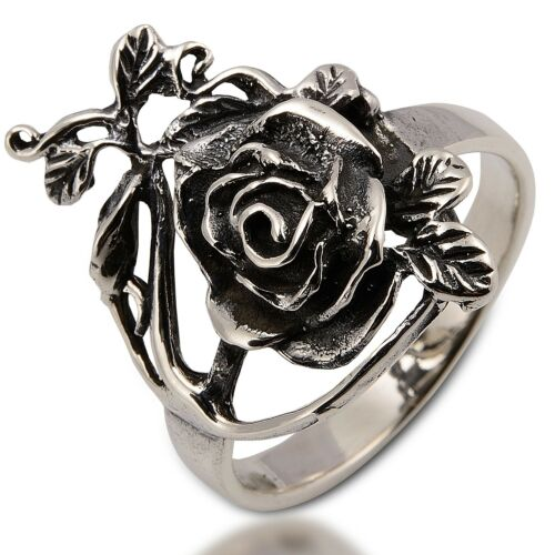 Lovely Rose Anneau Argent Sterling Taille US = 8,UK =P