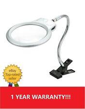 C08 5X 2.5X Desk LED Magnifying Glass Metal Hose Reading Lamp Light W3S6