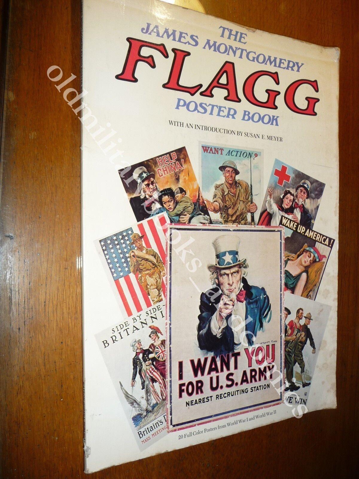 THE JAMES MONTGOMEY FLAGG POSTER BOOK PROPAGANDA MILITARE USA NEI MANIFESTI WWI