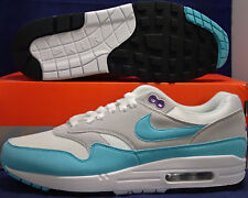 new style d9208 4f812 item 5 Nike Air Max 1 Anniversary White Aqua Neutral Grey Black SZ 8.5 (  908375-105 ) -Nike Air Max 1 Anniversary White Aqua Neutral Grey Black SZ  8.5 ...