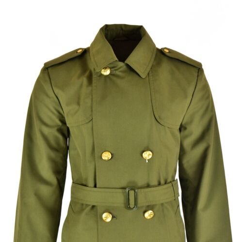 Genuine Czech army coat trenchcoat CZ military issue long raincoat olive NEW