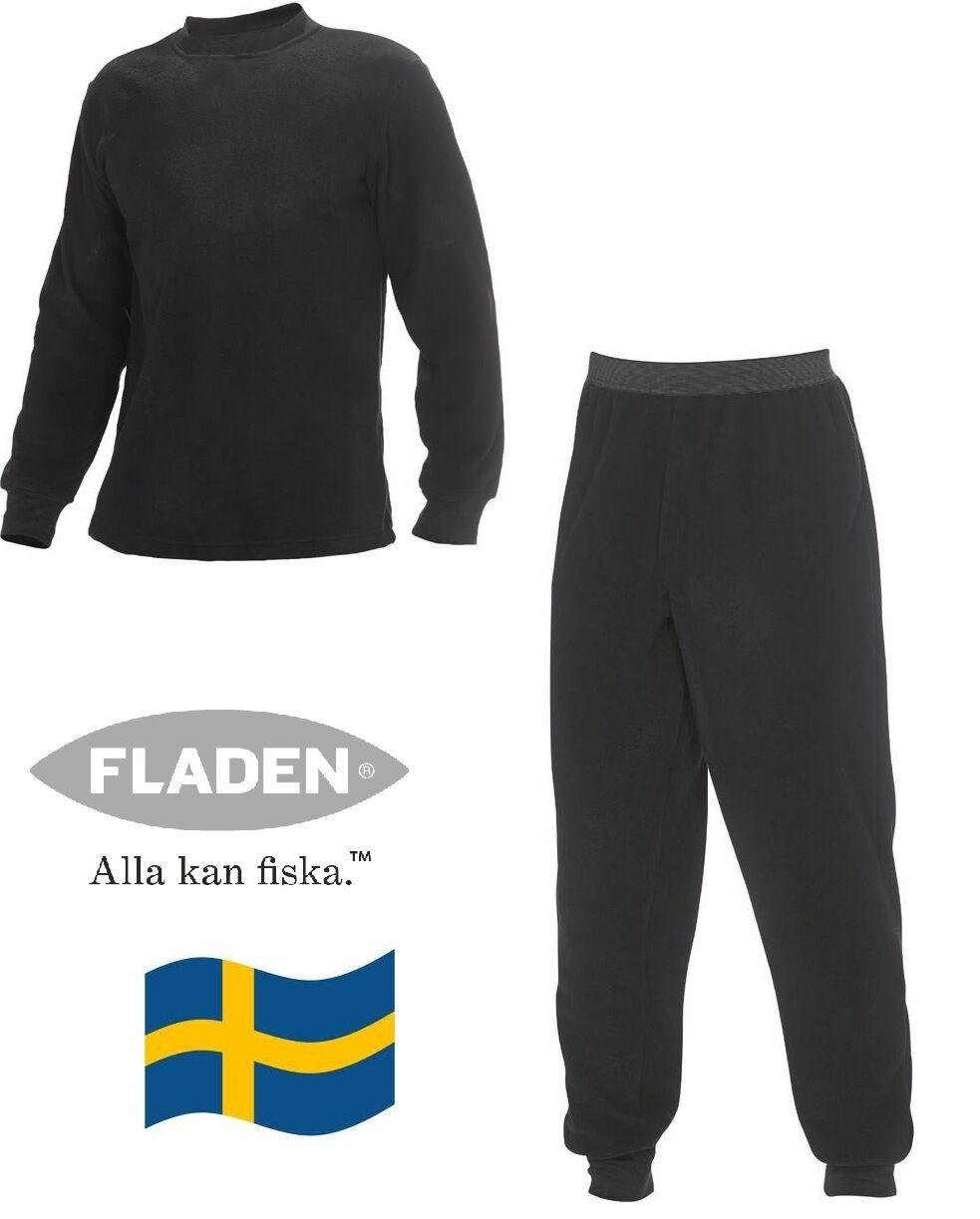 Fleece - Unterwäsche von FLADEN (S) , 2tlg. , black Gr.S-XXL