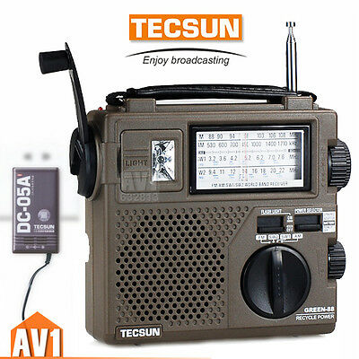 TECSUN GR88 Emergency Radio. Generator hand cranking charging.camping, rescue.