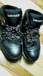 6M Timberland ladies ankle boots black leather shoes womens lace up