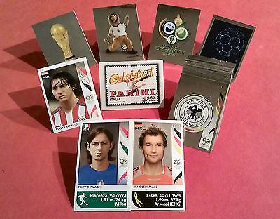 Panini WM 2006 Alle Wappen, Briefmarke, Inzaghi, Lehmann, Barreto Update Sticker