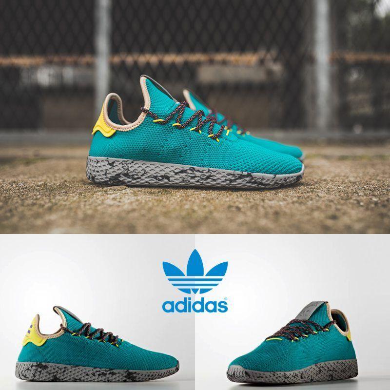 Adidas x Pharrell Williams PW Tennis HU Unisex Running Green CQ1872 Size 4-11
