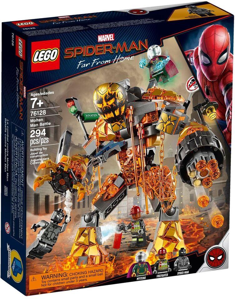 Lego Super heroes, 76128 Molten Man Battle UÅBNET