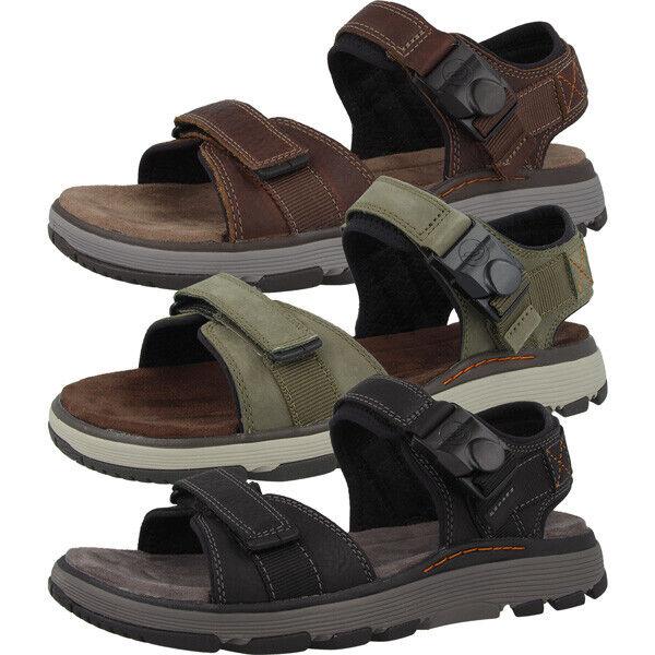 Clarks Un Trek Part Schuhe Men Herren Sandalen Hiking Trail Leder Sandaletten