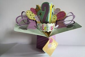 Image Is Loading 21st BIRTHDAY POP UP CARD 3D SON DAUGHTER