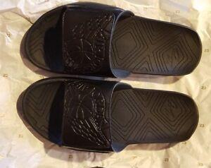 ee23126c6b73a4 NWT Nike Air Jordan Hydro 7 Black Slides Slidders Men s Size 9 ...