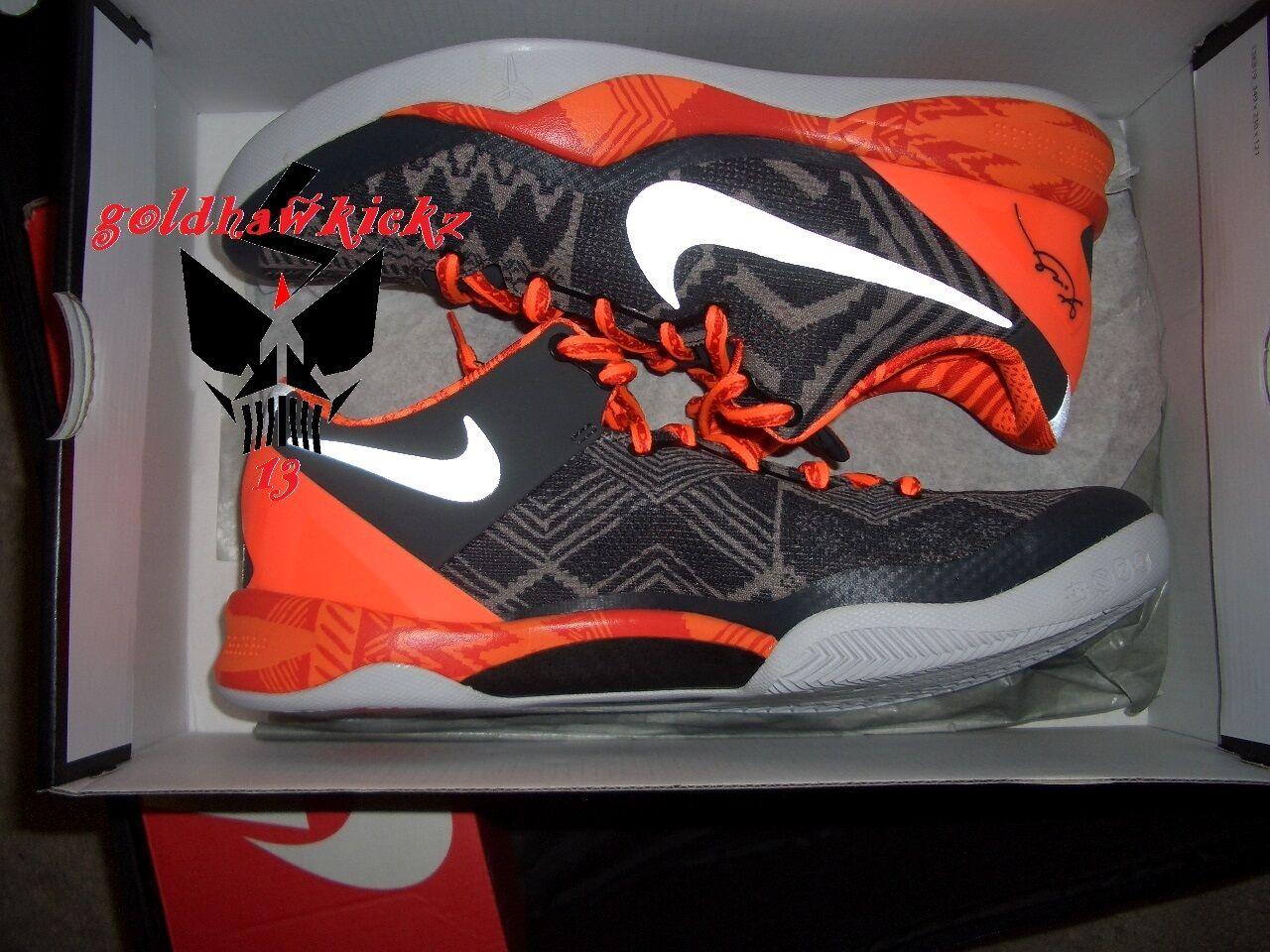 Nike Kobe 8 mes VIII sistema BHM el mes 8 de la historia negra, negro, naranja, 3M nuevos zapatos para hombres y mujeres, el limitado tiempo de descuento c21904