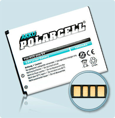 PolarCell Akku HTC One SV / Desire 500 (BA-S890 / BM60100) Accu Batterie Battery