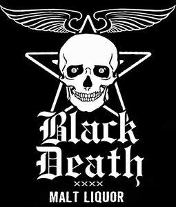 Vintage 'BLACK DEATH MALT LIQUOR' Shirt!  M  -  WKRP Dr. Johnny Fever