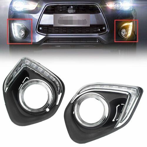 DRL LED Daytime Running Light Fog Lamp for Mitsubishi Outlander Sport ASX 13-15