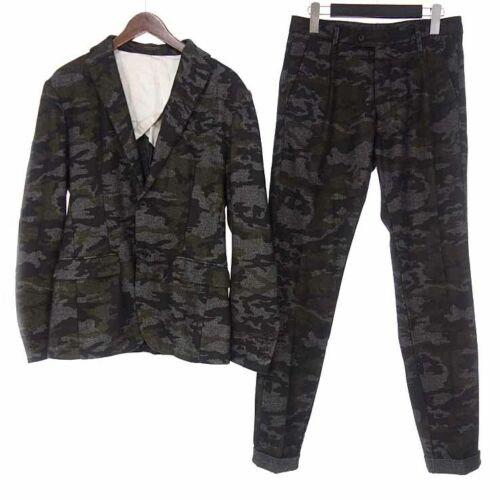MESSAGERIE Wool blend camouflage camouflage jacket