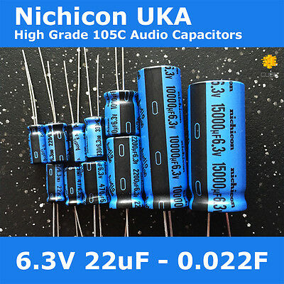 6 pcs Nichicon FG Capacitors 10V 47uf