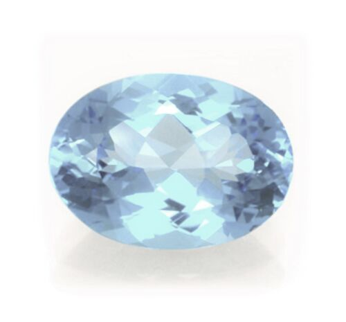 Natural Sky Blue Topaz 6mm x 4mm Oval Cut Gem Gemstone