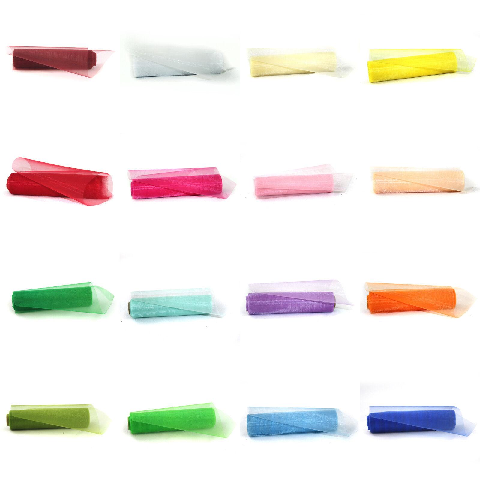 Organza rolle deko stoff tischl ufer schleife tischband tischdeko 12cm x 9 meter ebay - Organza dekostoff rollen ...
