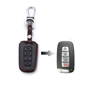 4-Buttons-Remote-Key-Fob-Bag-Holder-Leather-Cover-Case-Fit-For-HYUNDAI-Elantra