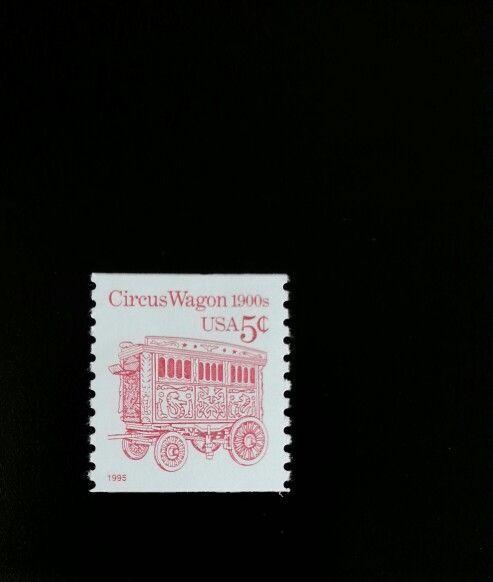 1995 5c Circus Wagon, Coil Scott 2452d Mint F/VF NH