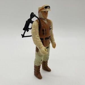 Vintage 1980 Star Wars Hoth Rebel Soldier Action Figure w/ Original Rebel Rifle