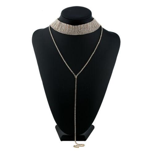 Fashion Crystal Rhinestones Choker Necklace