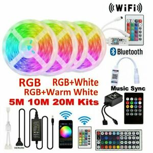 5M-10M-RGB-RGBW-5050-3528-LED-Strip-Lights-Wifi-Bluetooth-Music-Sound-Control-AU
