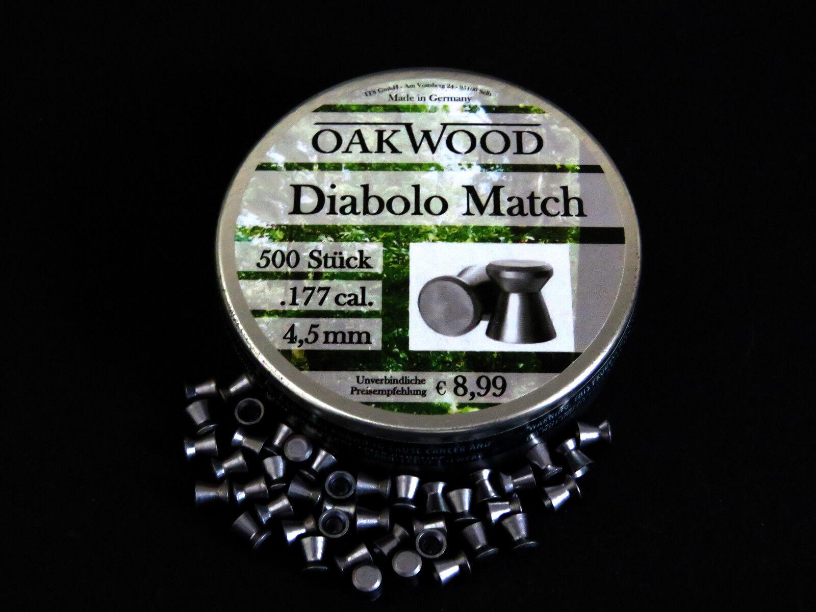 OAKWOOD OAKWOOD OAKWOOD MATCH DIABOLOS - LUFTGEWEHRKUGELN - 4,5MM- STAFFELPREIS -MADE IN GERMANY 8f0a7c
