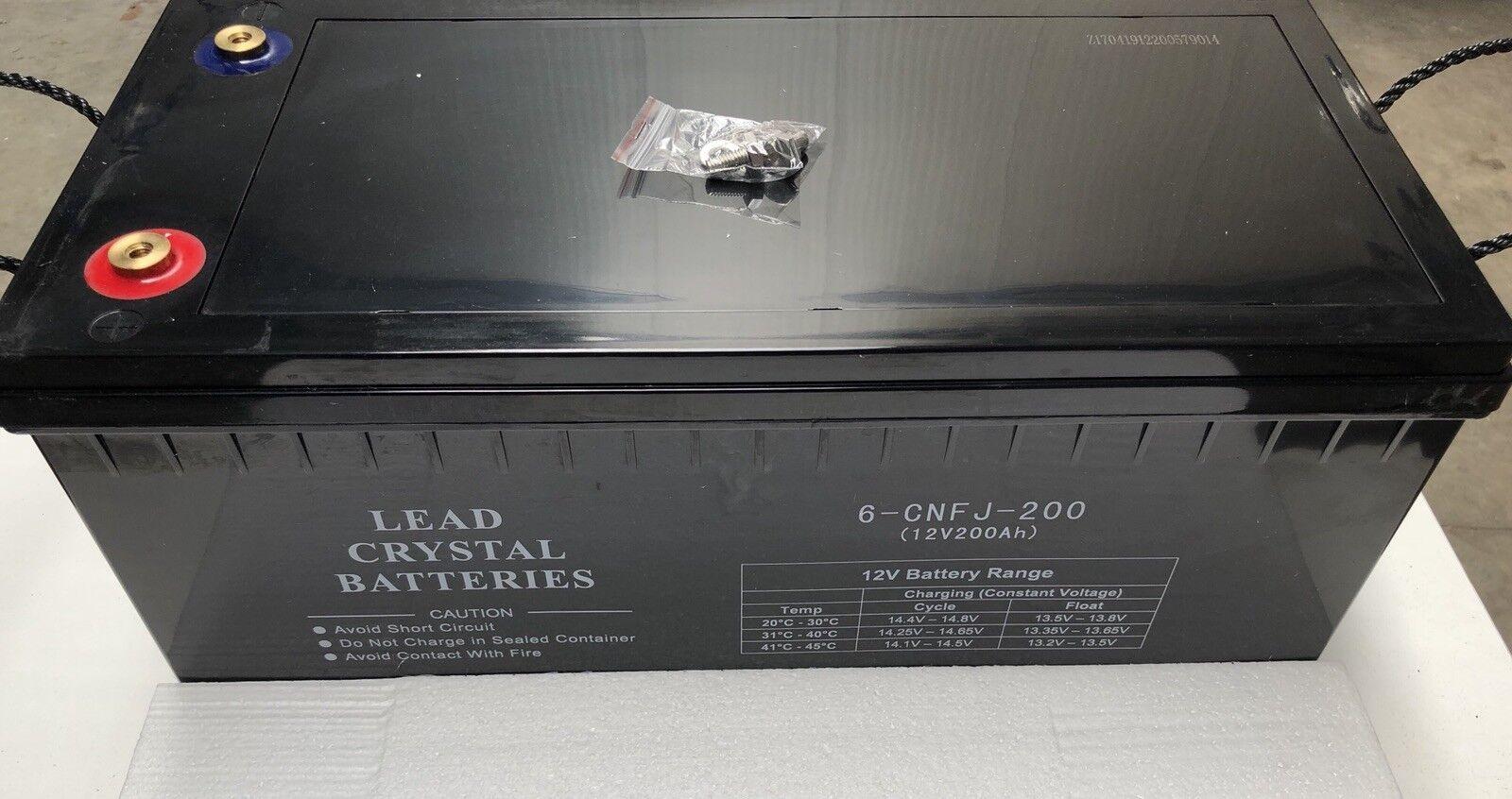 Lead Crystal Batterie   Blei-Kristall Batterie   12V 200Ah   Akku   6-CNFJ-200