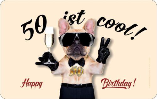 Petit-déjeuner Planche anniversaire 50 est cool lamelles Geil Imprimé Planche Cadeau