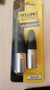 Connectors-YELLOW-CABLE-ECO-XLR01-neuf
