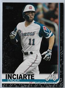 2019 Topps Series 2 Baseball Black Parallel Ender Inciarte 66/67 SP Braves