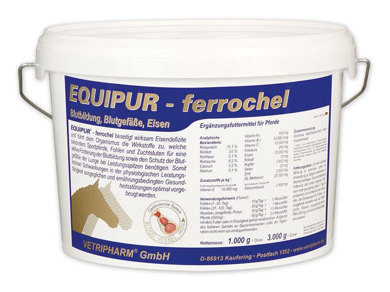 Equipur ferrochel 3 kg   bluetbildung - Eisen - Pferd