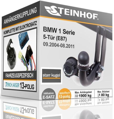 Anhängerkupplung starr Für BMW E87 5-Tür ab 2004-2011+E-SATZ 13p SPEZIFISCH