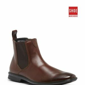Hush Puppies CHELSEA Brown Mens Ankle Boot Dress/Formal Leather Boots