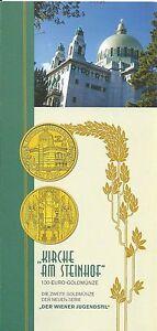 Infofolder 100 Euro : Kirche am Steinhof keine Münzen - Gföhl, Österreich - Infofolder 100 Euro : Kirche am Steinhof keine Münzen - Gföhl, Österreich