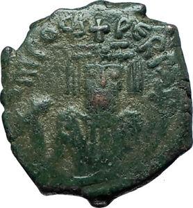 PHOCAS-Genuine-602AD-Cyzicus-Half-Follis-Authentic-Ancient-Byzantine-Coin-i66086