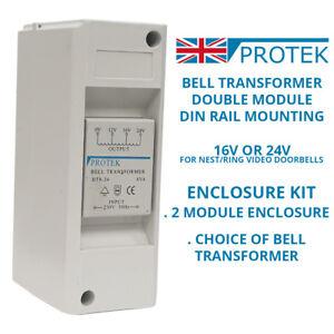 Protek Bell Transformer 16v 24v For Nest Ring Door Bell Enclosure Wall Mounted Ebay