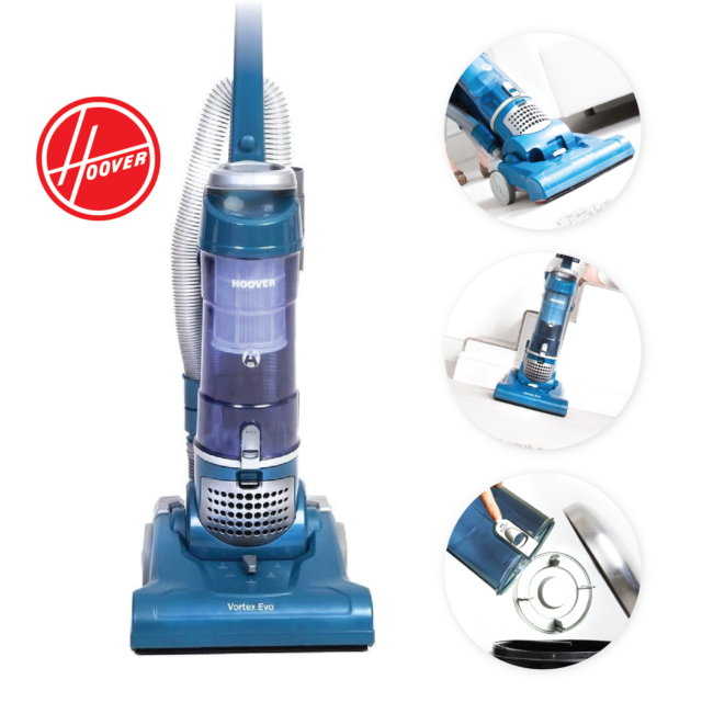 Hoover Th31 Vo01 Bagless Upright Vacuum Cleaner Large 3 Litre 350w Blue
