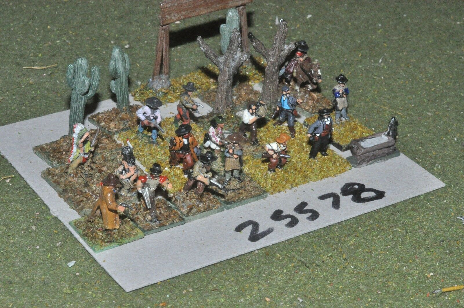 15mm ACW   old west - misc 22 figures - inf (25578)
