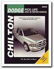 Chilton Repair Manual Dodge Pick-ups, 2002-08 # 20405