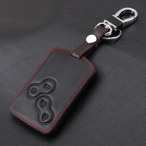 Genuine Leather Car Key Cover Holder for Renault Captur 2015