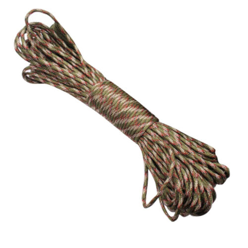 100FT 7Strand Outdoor Core Paracord Parachute Cord Outdoor Survival Tool