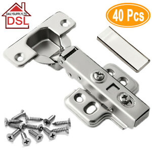 Top Quality Full Overlay 35mm Soft Close Hinges Kitchen Cabinet Cupboard Door Uk Ebay